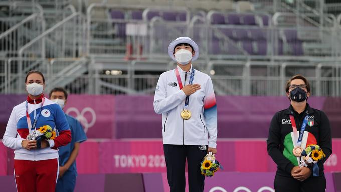 안산, 사상 첫 올림픽 양궁 3관왕 등극